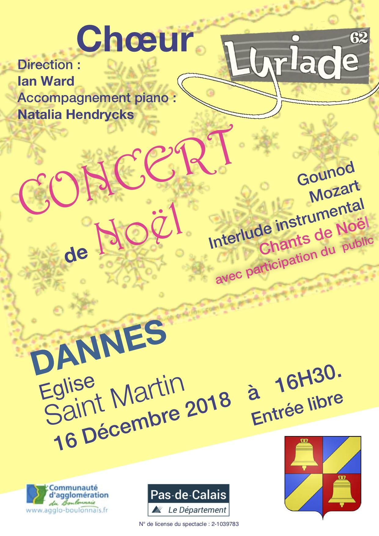 affiche concert dannes 16 décembre