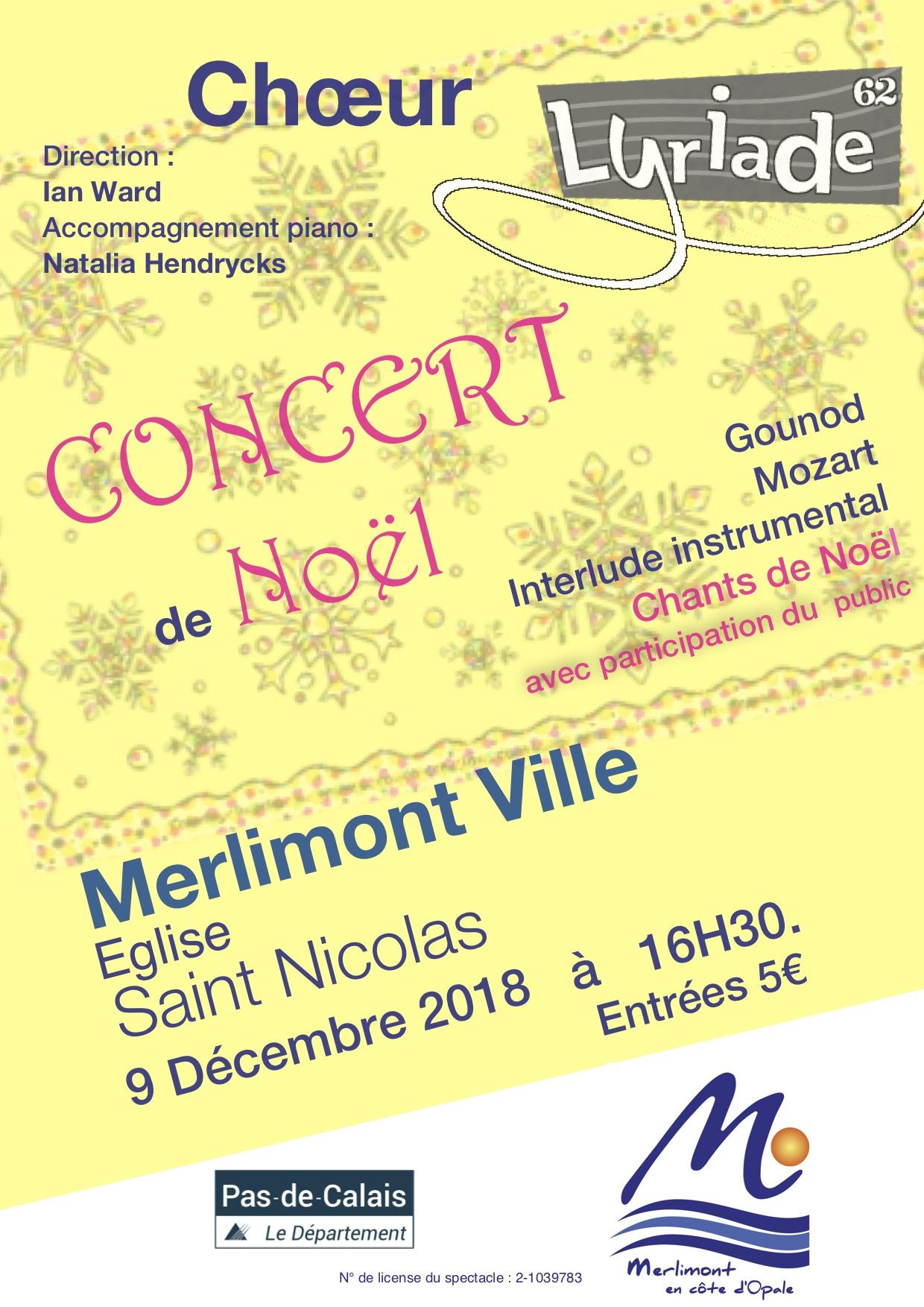 affiche concert merlimont 9 décembre