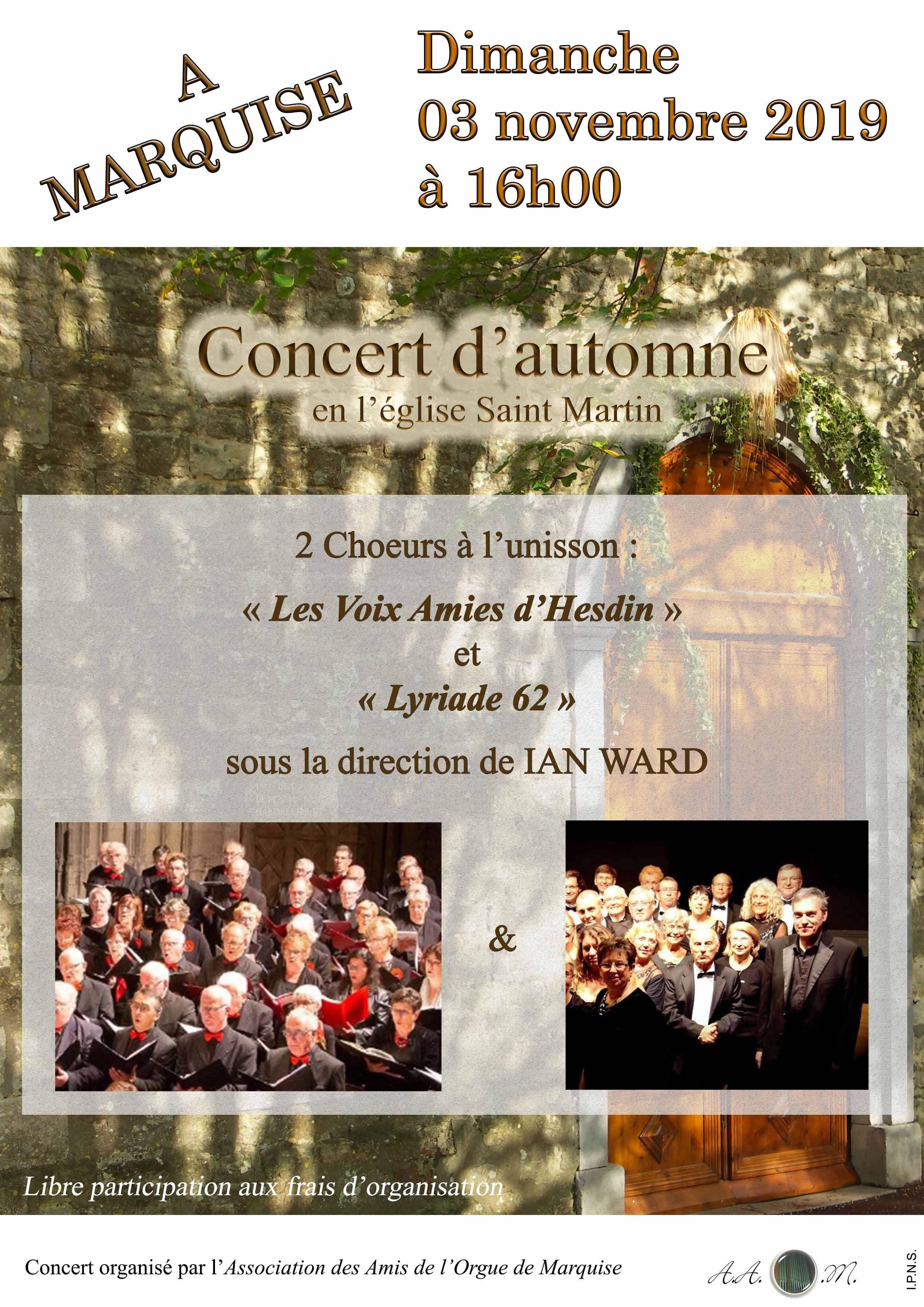 affiche concert 3 novembre marquise